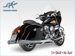 Picture of Jekill & Hyde Slip On Chrom f. Indian Chieftain+Touring Roadmaster / ABE E3+E4