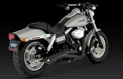 Picture of Auspuffanlage VANCE & HINES Big Radius 2 in 1 / schwarz / Dyna