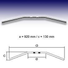 "Picture of Fehling CHROM Drag Bar ""LARGE"" 1"" m. Kerben, Breite 920 mm"
