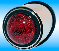 "Picture of LED-Rücklicht ""Old School"" Chrom, rotes Glas"