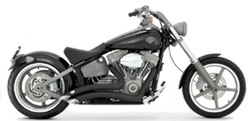 Picture of Auspuffanlage VANCE & HINES Big Radius 2 in 2 / schwarz / Softail Rocker ab Bj. 2008