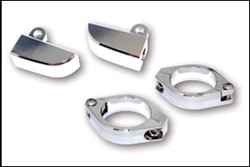 Picture of Blinkerhalter-Set Alu-chrom / M8 / 38-41 mm