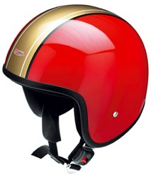 "Picture of Jet-Helm "" Retro "" rot-gold"