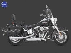 "Bild von V & H Twin Slash 3 1/4"" Slip On Chrom / Softail ab 07 / EC/ABE"