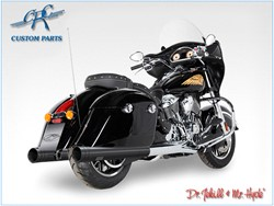 Picture of Jekill & Hyde Slip On Schwarz f. Indian Chieftain+Touring Roadmaster / ABE E3+E4