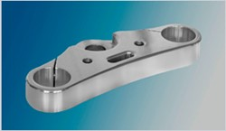 "Picture of ""Top Cover Easy2"" obere Gabelbrücke 49 mm / 250 mm / 0° / Alu poliert"