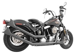 Picture of FREEDOM FISHTAIL UPSWEEP AUSPUFF Schwarz / Softail ab 1984-2016 / EC/ABE
