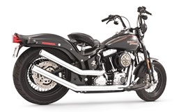Bild von FREEDOM EG/ABE UPSWEEPS WITH STAR END CAPS 2 in 2 / CHROM / SOFTAIL EG/ABE E3+E4