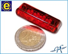 "Picture of LED-Rücklicht ""Shorty"" rotes Glas"