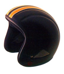 Picture of Buffalo Helm matt-schwarz+Streifen orange / XS/XL/XXL