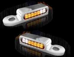 Bild von LED Armaturen Blinker + Positionslicht vorne V-ROD/NIGHT-ROD MODELLE ab 2002, CHROM
