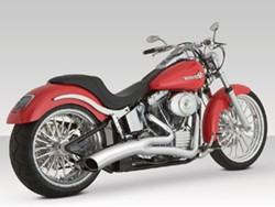Picture of Auspuffanlage VANCE & HINES Big Radius 2 in 1 / chrom / Softail 86-06 ohne TÜV