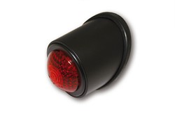 "Picture of LED-Rücklicht ""Old School"" SCHWARZ, rotes Glas"