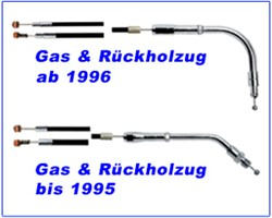 Picture of Gaszug H.D. V- Rod stahlflex 84 cm